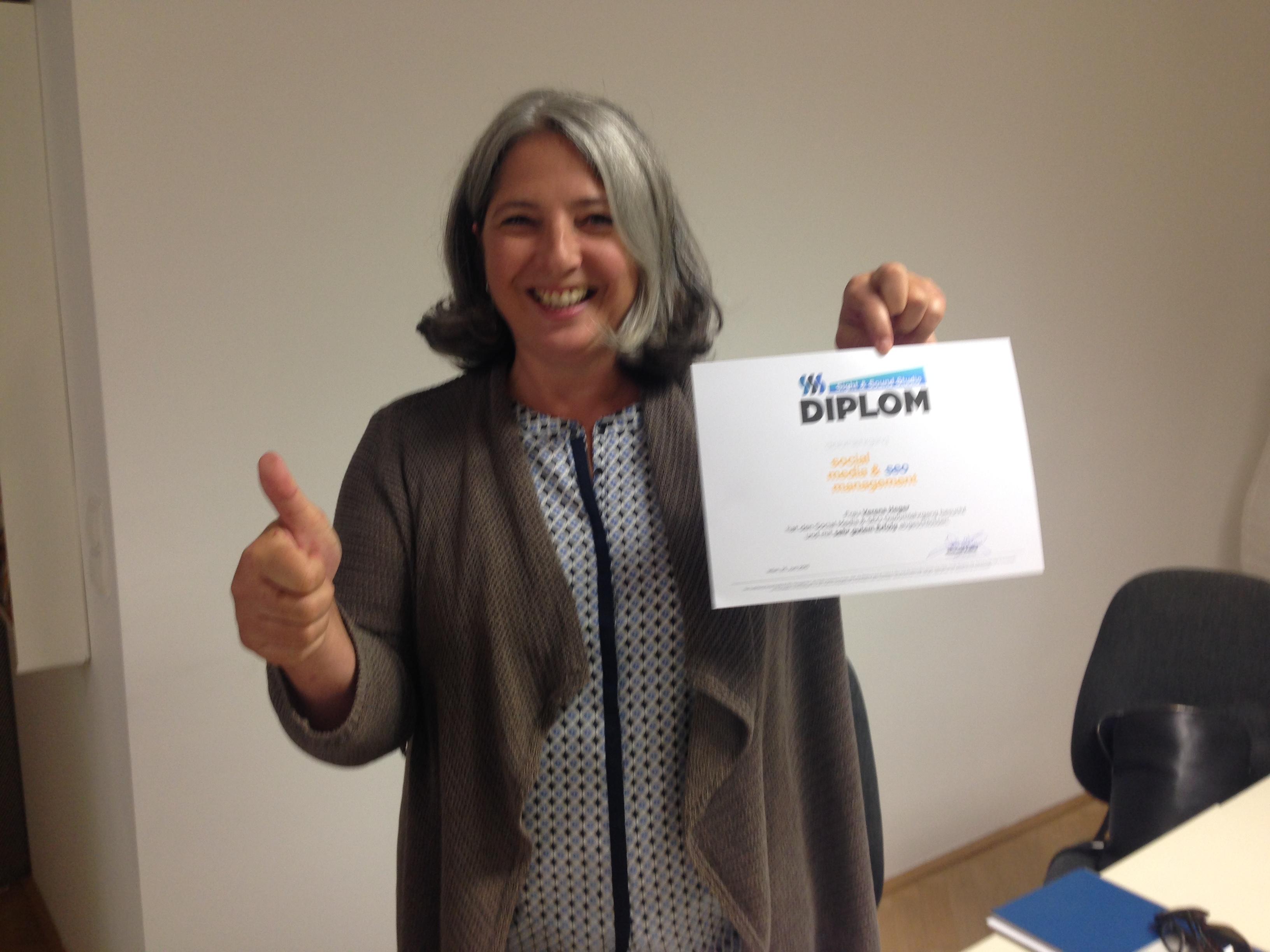 Verena Heger hat den Social Media Kurs in Wien erfolgreich bestanden